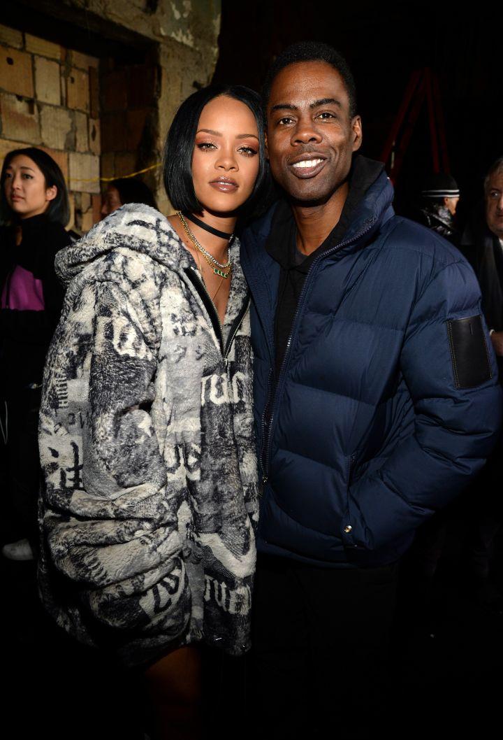 Rihanna and Chris Rock