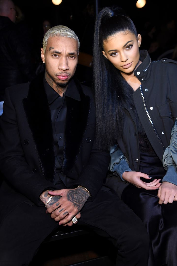 Tyga and Kylie Jenner attend Alexander Wang's NYFW show