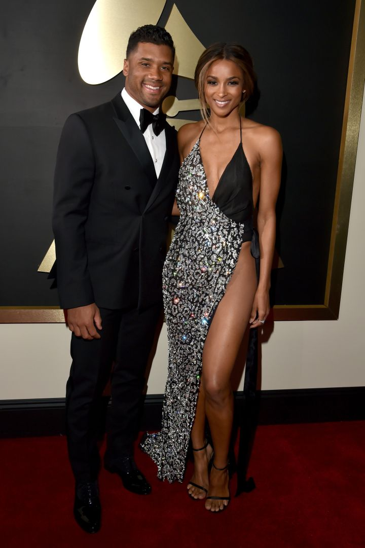 Ciara and Russell Wilson are all smiles.