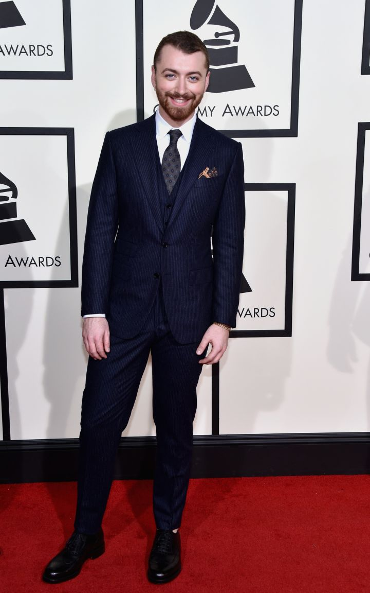 Sam Smith suited up!