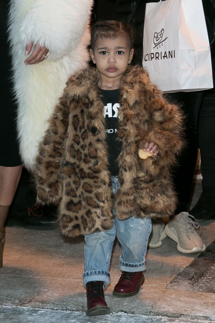 North West rocking a fur coat