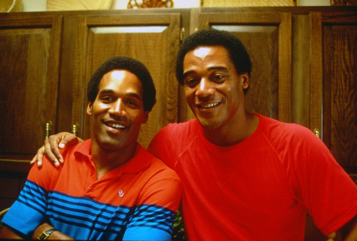 A much earlier photo of O.J. and his good friend AI Cowlings, circa 1979.
