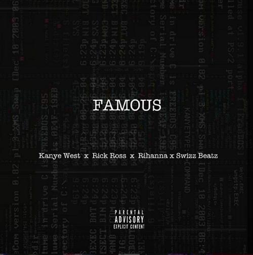 """Rick Ross """"Famous"""" artwork"""