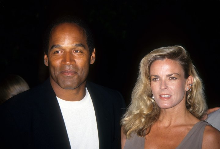 O.J. Simpson and his ex-wife Nicole Brown in seemingly happier times.