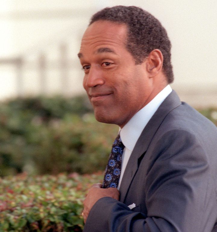 O.J. heading to court in his civil trial for the deaths of Nicole Brown and Ron Goldman.