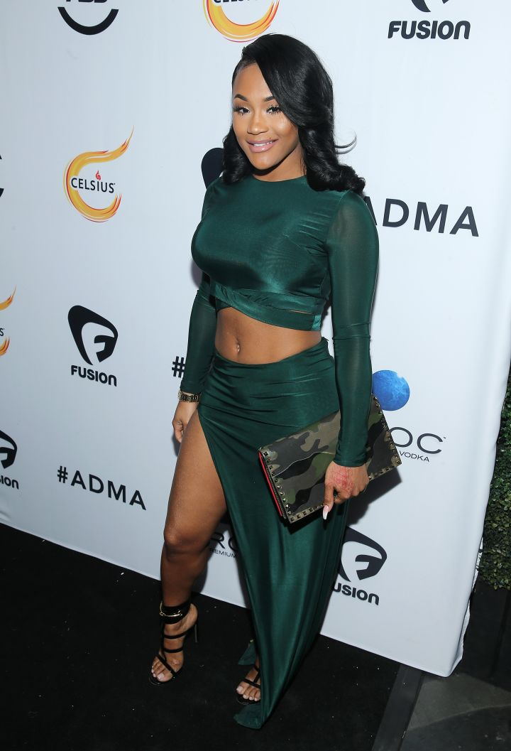 Lira Galore highlighted her killer body in a green skirt and top set.