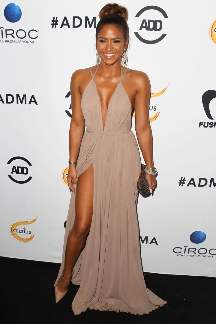Cassie was all smiles as her lighter locks made their first carpet debut.