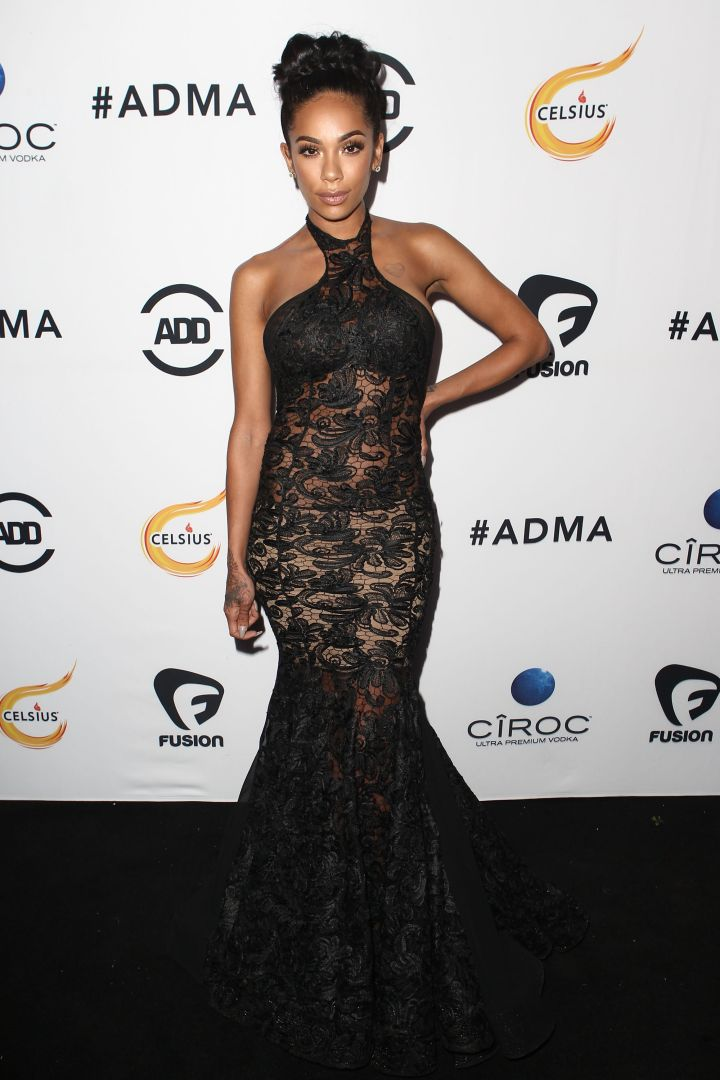 Erica Mena opted for the combo of lace and sheer. Are you feeling it?