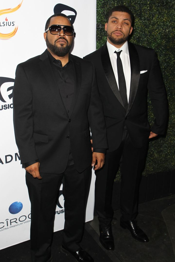 """Straight Outta Compton"" won big. Congrats to Ice Cube and O'Shea Jackson, Jr.!"