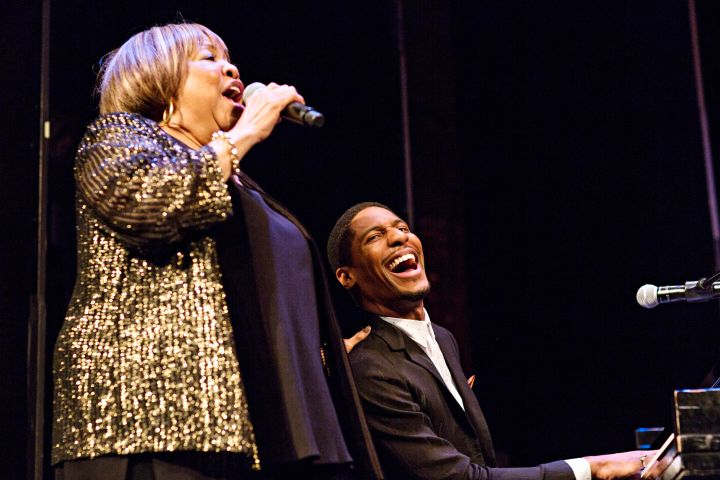 "Mavis Staples Performing Alongside Jon Batiste At HBO's ""MAVIS!"" Premiere In New York City."