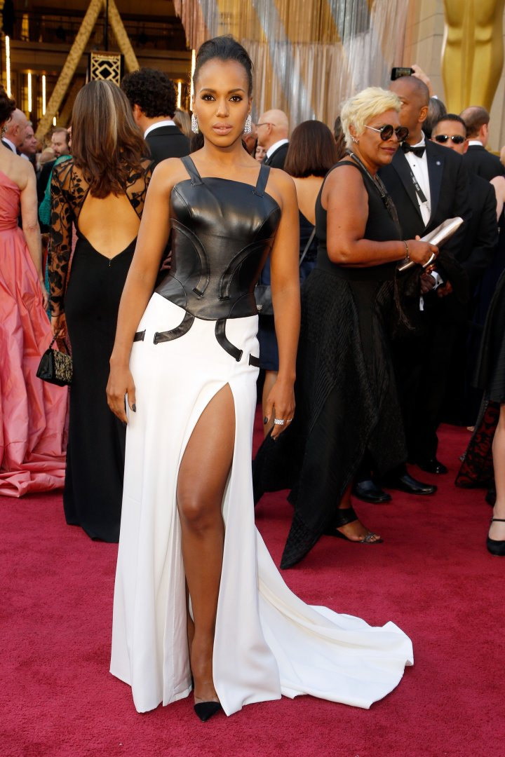 Queen. Kerry Washington serves lots of leg.