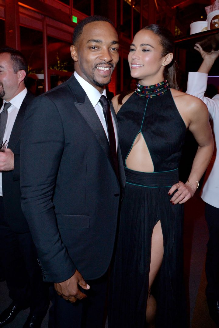 Catching up! Here's Paula Patton and Anthony Mackie.