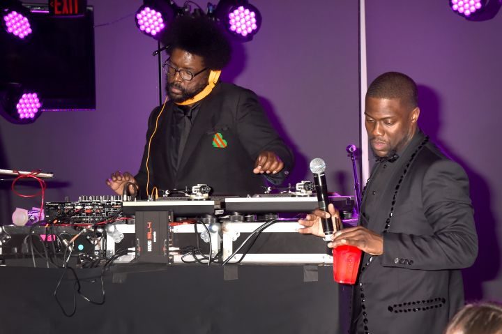 Kevin Hart rocks out to the tunes at QuestLove at his official Oscar's After Party.