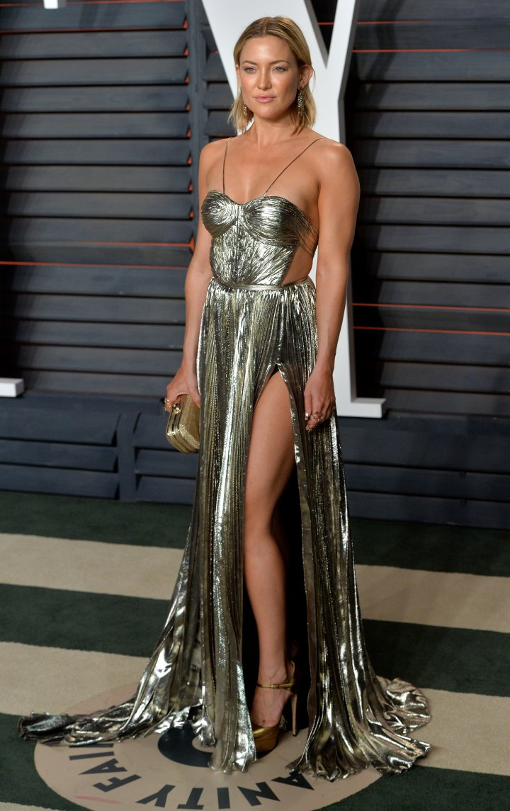 Kate Hudson was a vision in metallic.