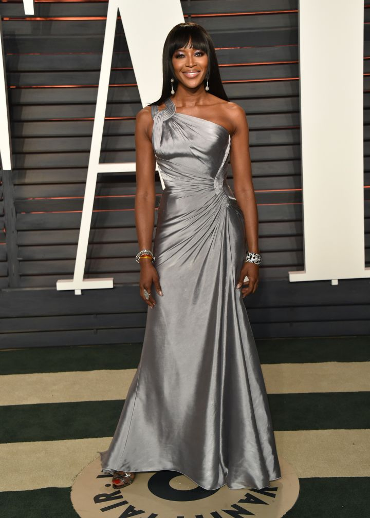 Slay! Naomi Campbell arrived in an elegant gown.