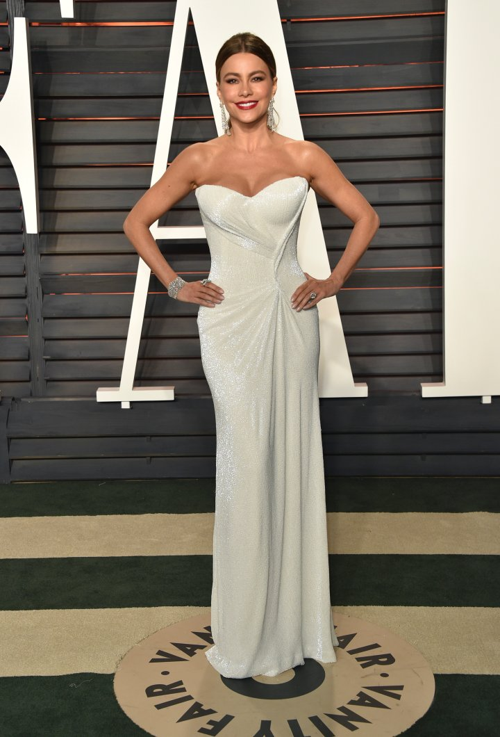 Sofia Vergara went for all-white for the after-party.