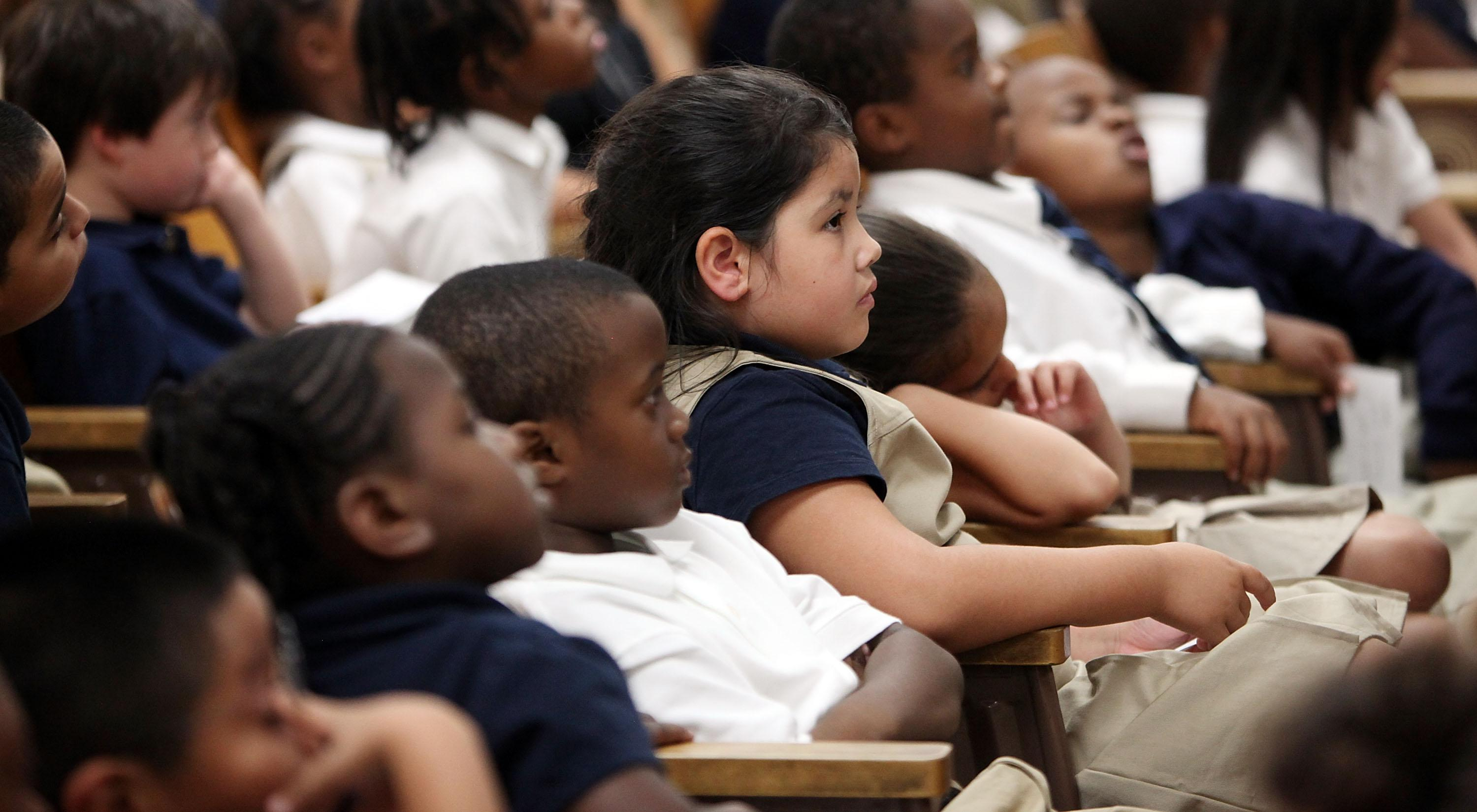 Sec. Of State Clinton Speaks To Students At A New York Charter School