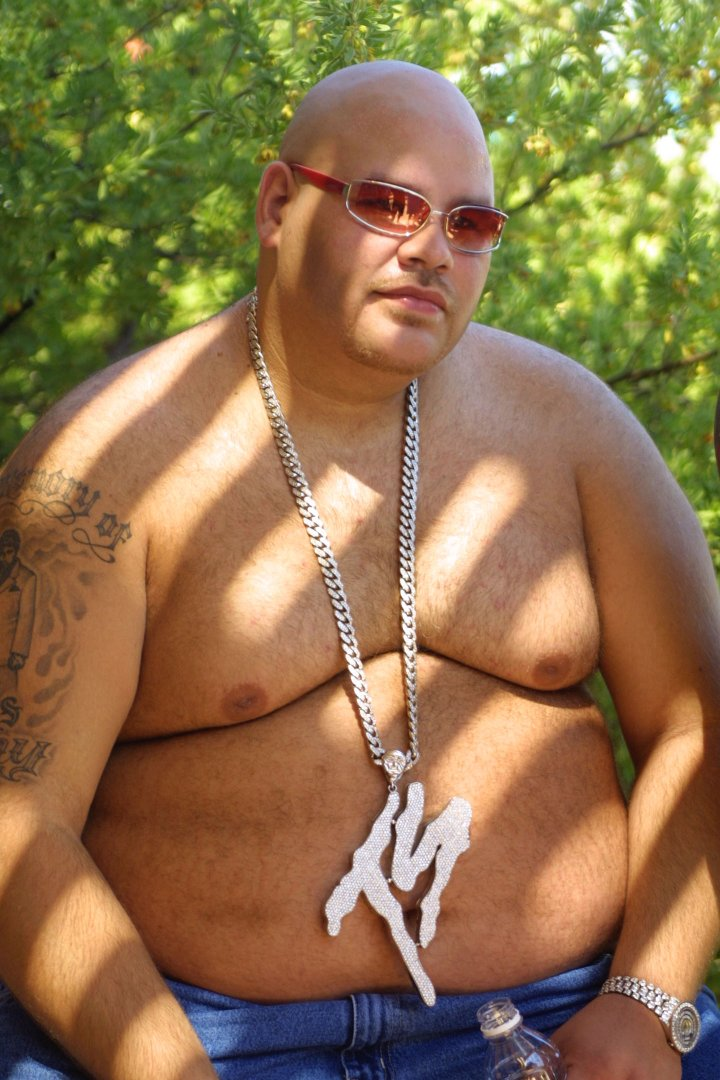 Then: Fat Joe certainly lived up to his name in 2002.