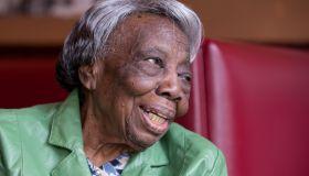 WASHINGTON, DC - FEBRUARY 22: 106 year-old Virginia McLaurin i