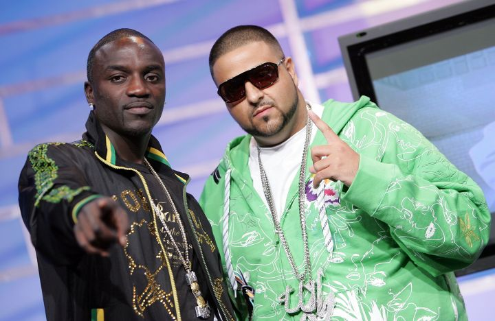 Khaled and Akon hit up 106 & Park back in the day.