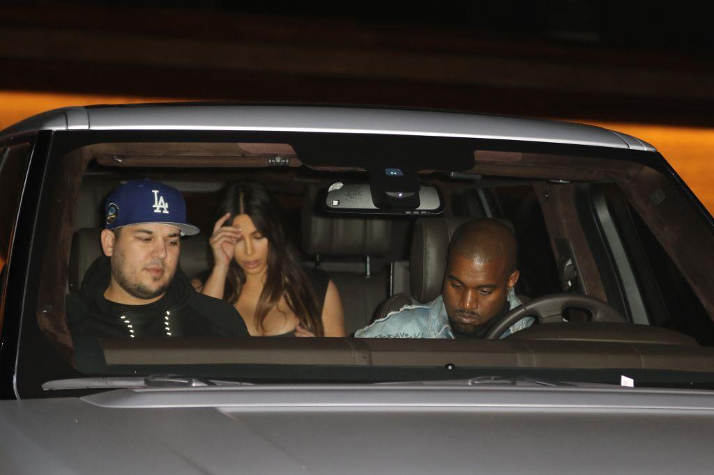 Rob Kardashian, Kanye West, Khloe Kardashian, Kim Kardashian, Scott Disick, Penelope Disick, Mason Disick, North West