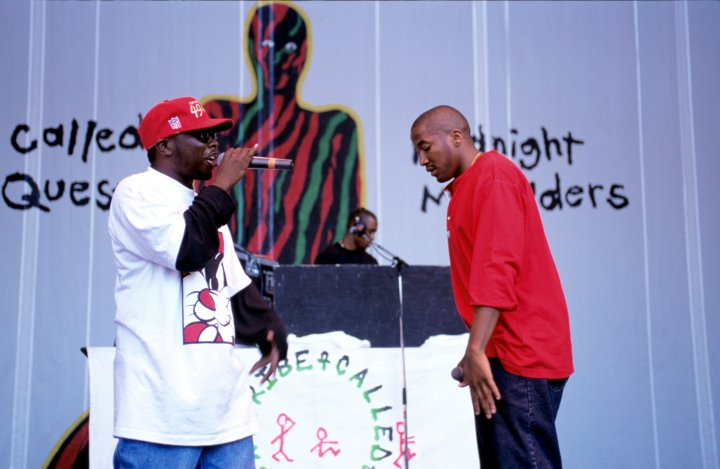 Q-Tip and Phife Dawg of A Tribe Called Quest perform as part of Lollapalooza 1994 at Shoreline Amphitheatre.