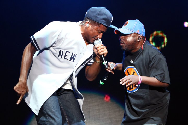 Q-Tip and Phife Dawg of A Tribe Called Quest perform during the 7th Annual Rock The Bells festival on Governors Island.