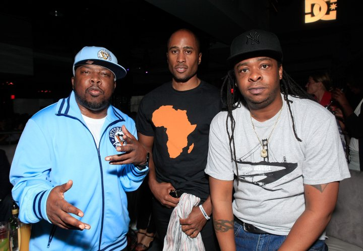 Phife Dawg, Ali Shaheed Muhammad, and Jarobi White attend the Los Angeles Premiere of 'Beats, Rhymes & Life: The Travels Of A Tribe Called Quest' After Party on June 24, 2011.
