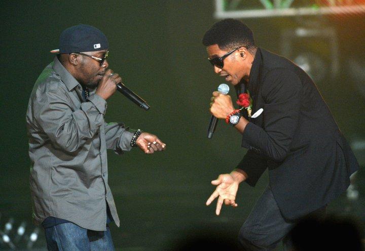 Phife Dawg and Q-Tip perform onstage at the 2012 BET Hip-Hop Awards at Boisfeuillet Jones Atlanta Civic Center on September 29, 2012 in Atlanta, Georgia.