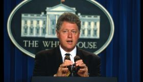 Bill Clinton Speaks On Crime BIll
