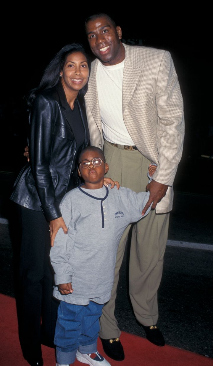 Magic Johnson and Cookie Johnson