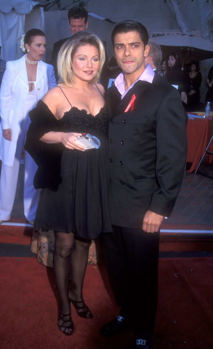 "Kelly Ripa and Mark Consuelos met in 1995 as co-stars on ""All My Children."""