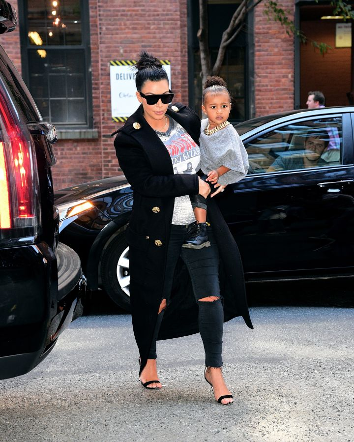 Of course Kim Kardashian's baby North West is the more stylish celebrity baby.