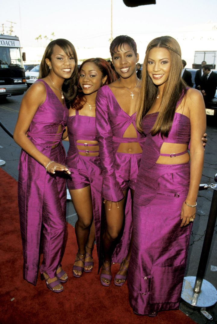 Destiny's Child in matching purple outfits