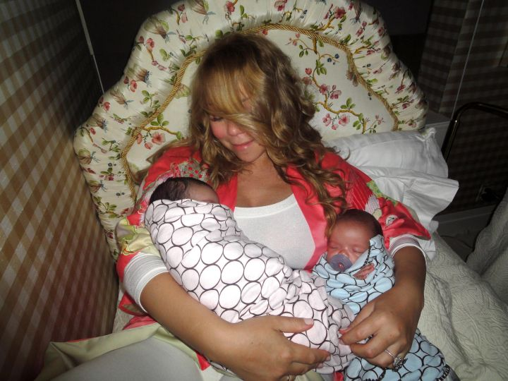 Mariah with her babies Monroe and Moroccan