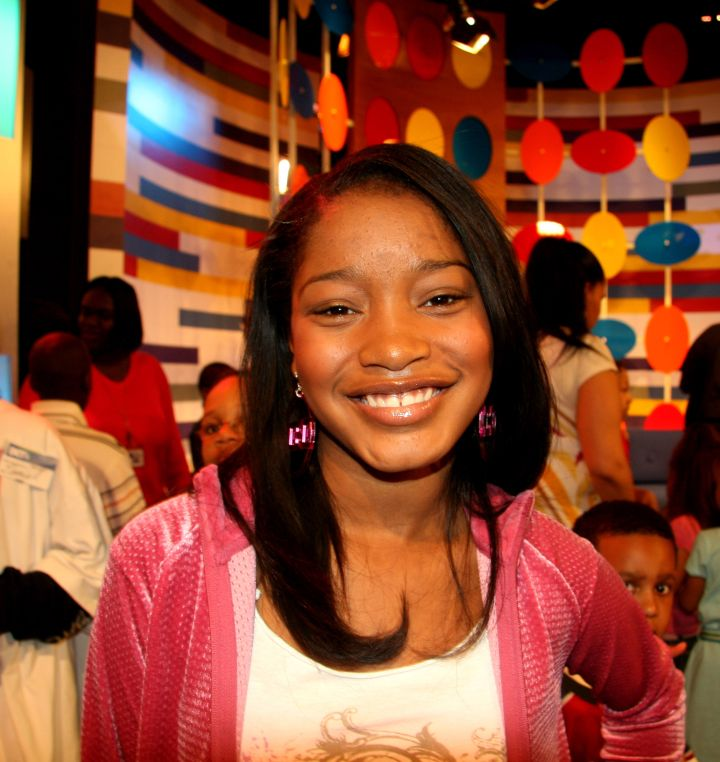 A baby faced Keke Palmer stopped by while promoting Akeelah & the Bee.