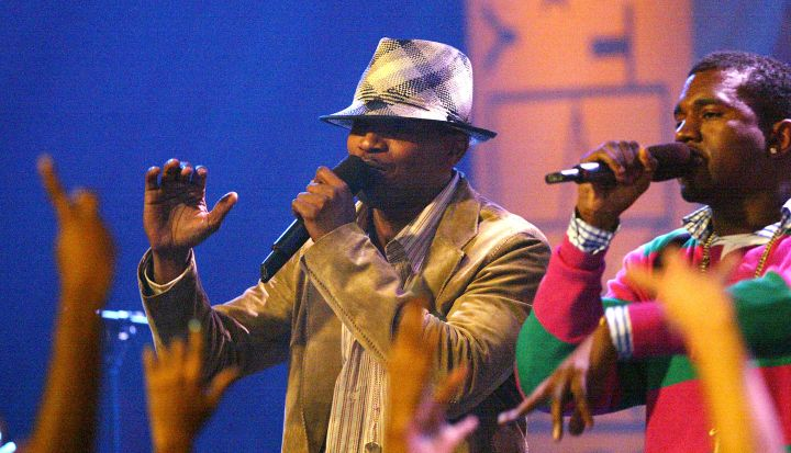 Jamie Foxx showed off his vocal chops with the help of Kanye West.