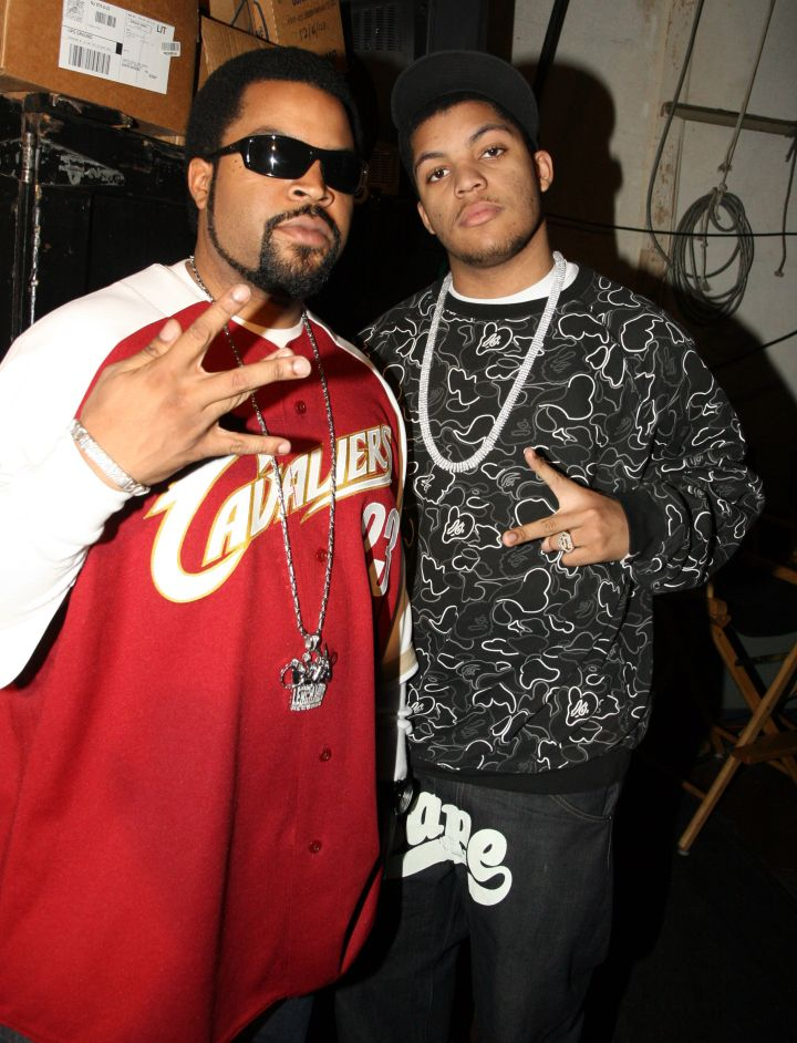 """Ice Cube and O'Shea Jr. stopped by while promoting """"Barbershop."""""""