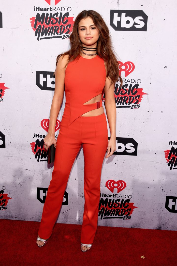 Selena Gomez flashed just enough of her flawless body in a Mugler jumpsuit.