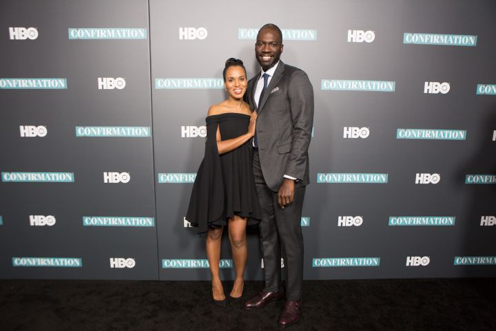 "Kerry Washington & Director Rick Famuyiwa at the New York premiere of HBO's ""Confirmation."""
