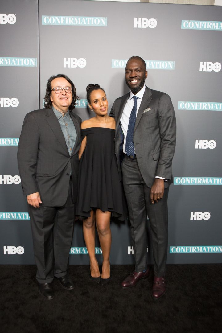 "Len Amato, Kerry Washington, & Director Rick Famuyiwa at the New York premiere of HBO's ""Confirmation."""