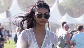 Chanel Iman at the 2016 Coachella Music Festival