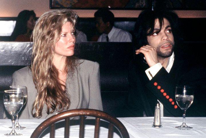 Kim Basinger with singer Prince, circa 1988.