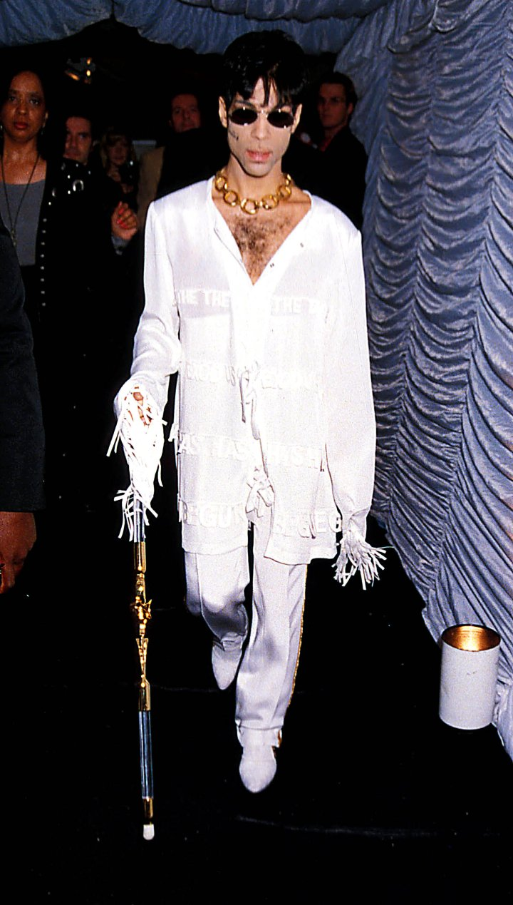 Prince at the MTV/VH1 Party, Round House, London.