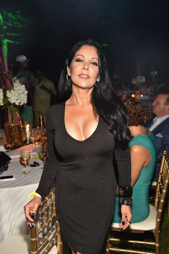 Apollonia In The Green Room In Los Angeles.