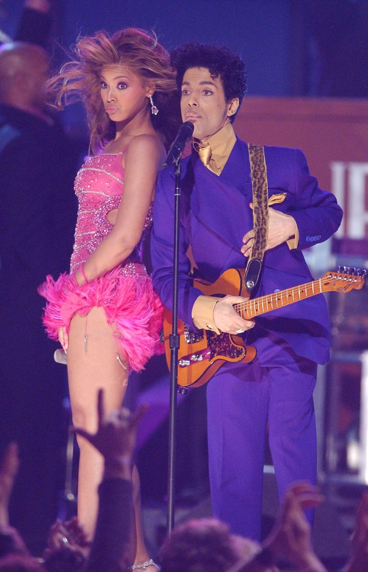 Prince and Beyonce at the 46th Annual GRAMMY Awards