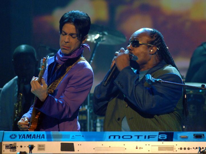 Prince and Stevie wonder hit the stage together at the 6th Annual BET Awards