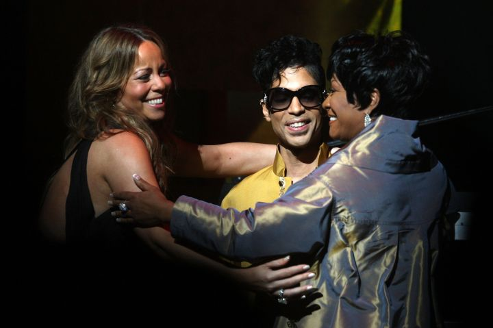 Mariah Carey, Patti LaBelle and Prince join hands at the Apollo Theater 75th Anniversary Gala