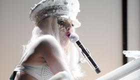 M.A.C Viva Glam Spokespeople Lady Gaga And Cyndi Lauper Attend amfAR New York Gala