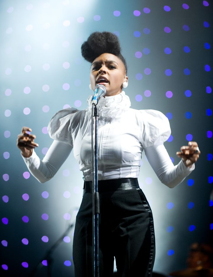 "Janelle Monáe, known for her unique style, teamed up with Prince on the song ""Given Em What They Love"""